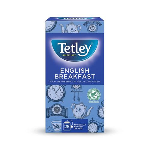 Tetley Individually Enveloped Tea Bags English Breakfast Drawstring in Envelope Ref 1278 [Pack 25]