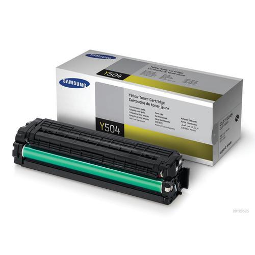 Samsung CLT-Y504S Laser Toner Cartridge Page Life 1800pp Yellow Ref SU502A