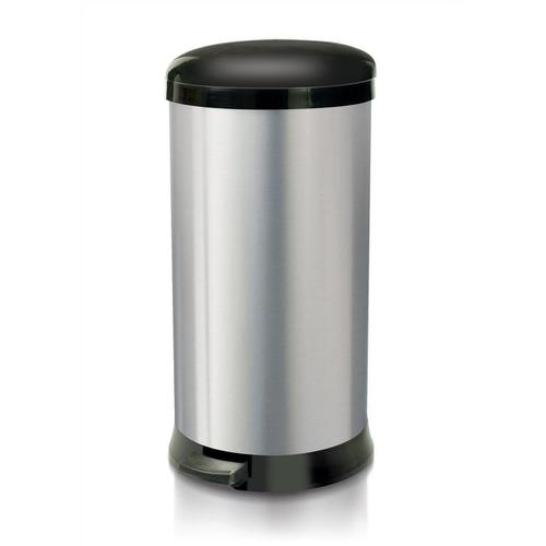 Addis Pedal Bin Cushion Close 30 Litre Stainless Steel Ref 518017