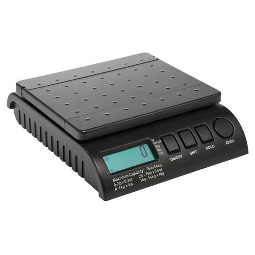 Postship Multi Purpose Scale 5g or 10g Increments Capacity 34kg LCD Display Black Ref PS3400B