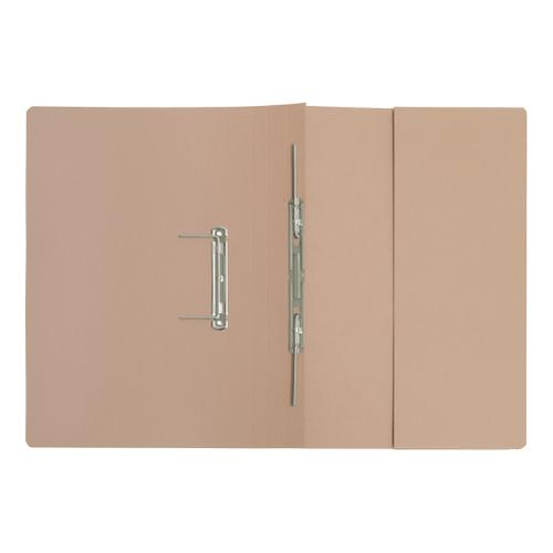 5 Star Elite Transfer Spring Pocket File Super Heavyweight 420gsm Foolscap Buff [Pack 25] by The OT Group, 102719