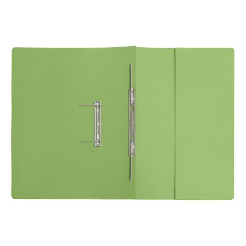 5 Star Elite Transfer Spring Pocket File Super Heavyweight 420gsm Foolscap Green [Pack 25] by The OT Group, 102721