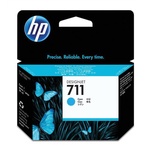 Hewlett Packard [HP] No.711 Inkjet Cartridge 29ml Cyan Ref CZ130A