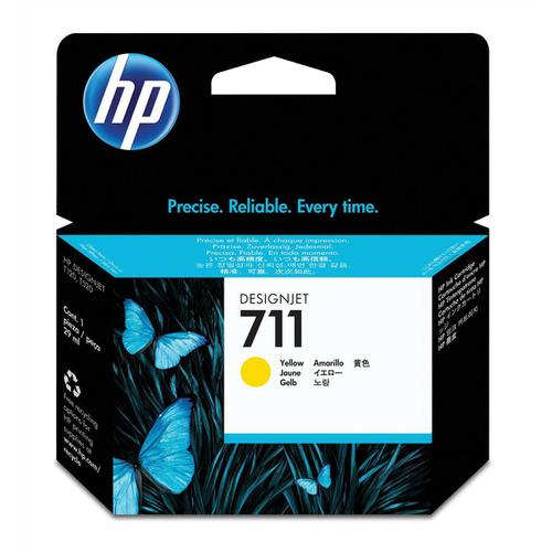 Hewlett Packard [HP] No.711 Inkjet Cartridge 29ml Yellow Ref CZ132A