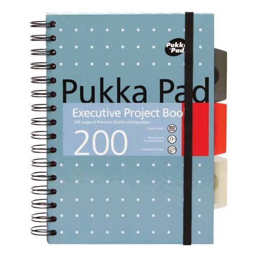 Pukka Pad Executive Project Book A5 Metallic Ref 6336-MET [Pack 3]