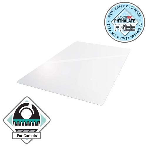 Cleartex Advantagemat Chair Mat For Carpets Rectangular 900x1200mm Clear Ref FCPF119225EV