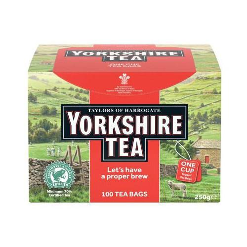Yorkshire Tea String and Tagged Ref 0403256 [Pack 100]