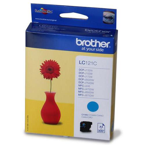 Brother Inkjet Cartridge Page Life 300pp Cyan Ref LC121C