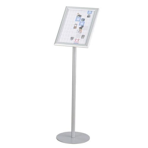 Twinco Literature Display Floor Stand Snapframe A4 Silver Ref TW51758