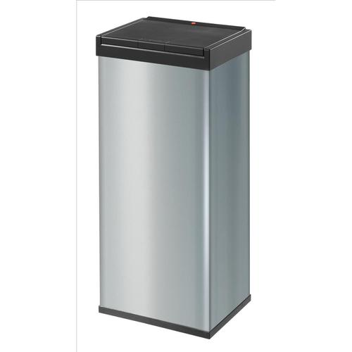 Big Bin Touch Steel and Impact-resistant Plastic Flat Packed 60 Litre Silver Ref 0860-601