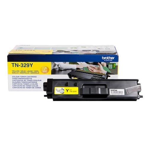 Brother Laser Toner Cartridge Super High Yield Page Life 6000pp Yellow Ref TN329Y