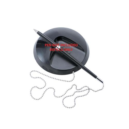 5 Star Office Desk Pen Refills Black [Pack 20] by The OT Group, 112340
