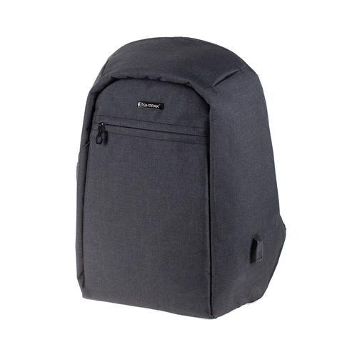 LightPak Safepak Backpack With 15in Laptop Case Polyester Black Ref 46154