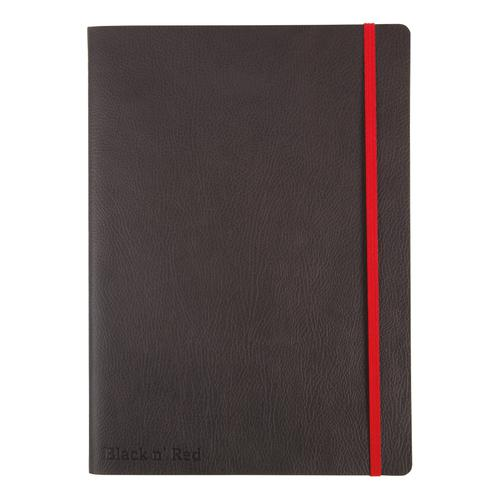Black By Black n Red Business Journal Soft Cover Ruled and Numbered 144pp B5 Ref 400051203