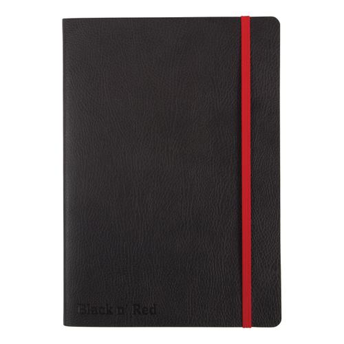 Black By Black n Red Business Journal Soft Cover Ruled and Numbered 144pp A5 Ref 400051204