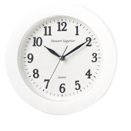 5 Star Facilities Wall Clock Plastic 12 Hour Dial Diameter 250mm White