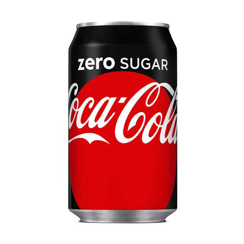 Coca Cola Coke Zero Soft Drink Can 330ml Ref N001018 [Pack 24]