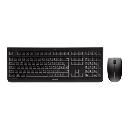 Cherry DW3000 Keyboard and Mouse Desktop Combo Wireless Black Ref JD-0700GB
