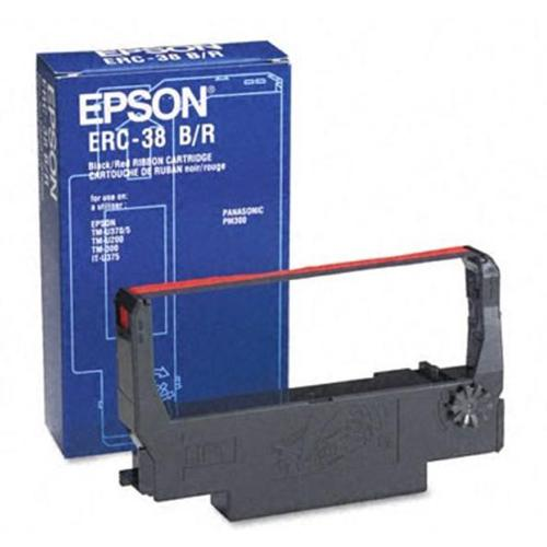 Epson ERC38BR Fabric Ribbon Cartridge Black/Red Ref C43S015376