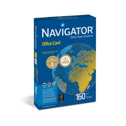 Navigator Office Prem Card FSC High Qlty 160gsm A4 Bright WhtRefNOC1600001[250Shts][REDEMPTION]Apr-June20