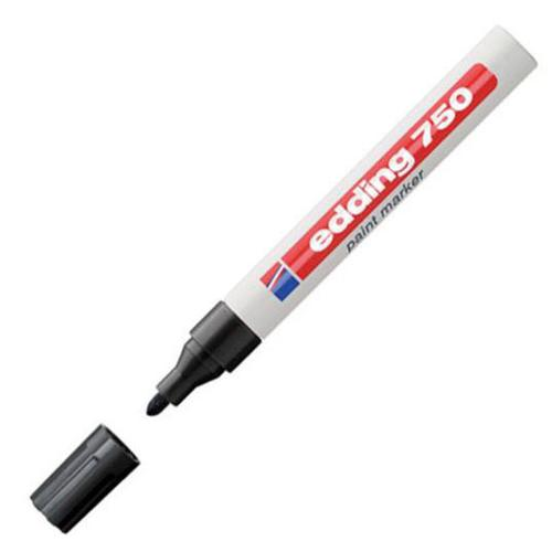 Edding 750 Paint Marker Bullet Tip 2-4mm Line Black Ref 4-750001 [Pack 10]