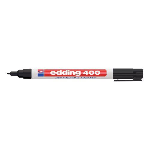 Edding 400 Permanent Marker Bullet Tip 1mm Line Black Ref 4-400001 [Pack 10]