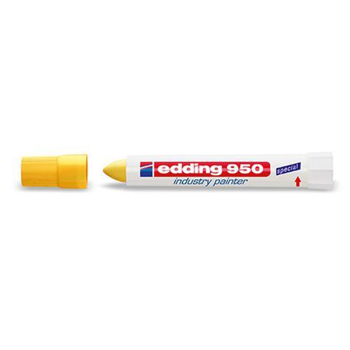 Edding 950 Industry Painter Bullet Nib 10mm Yellow Ref 4-950005 [Pack 10]