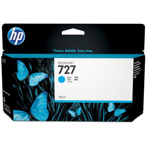 Hewlett Packard [HP] No.727 Designjet Inkjet Cartridge 130ml Cyan Ref B3P19A