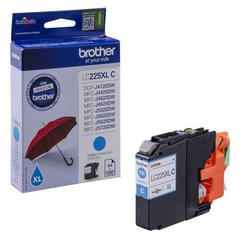 Brother Inkjet Cartridge High Yield Page Life 1200pp Cyan Ref LC225XLC