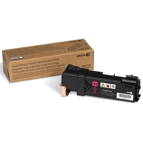 Xerox Phaser 6500 Laser Toner Cartridge High Yield Page Life 2500pp Magenta Ref 106R01595