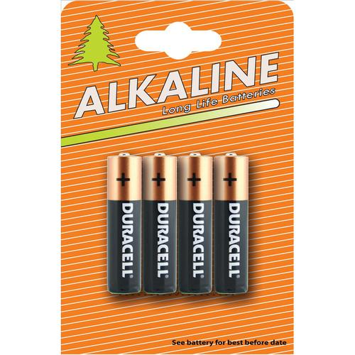 Duracell Plus Power Battery Alkaline AAA Ref AAADURIND4 [Pack 4]