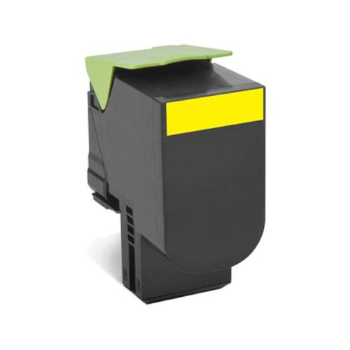Lexmark 702Y Laser Toner Cartridge Return Programme Page Life 1000pp Yellow Ref 70C20Y0