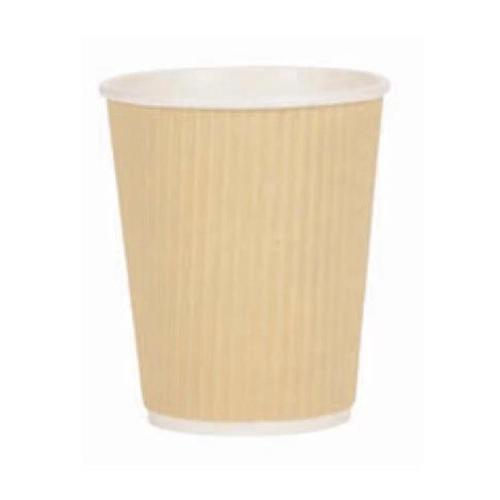 Paper Cup Ripple Wall PE Lining 8oz 236ml Corrugated Case Brown Kraft Ref 0511094 [Pack 500]