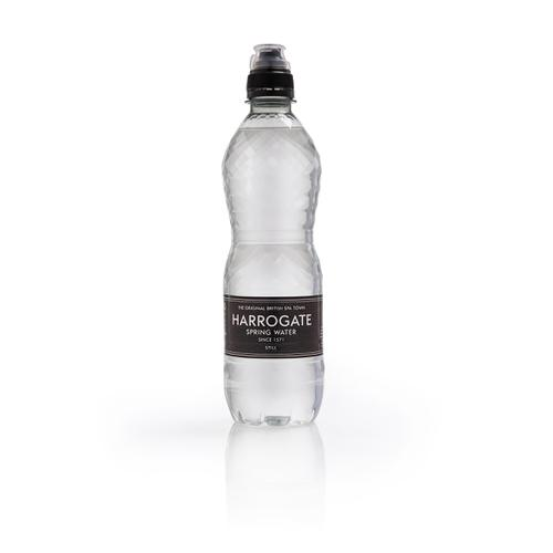 Harrogate Still Water Sport Cap Plastic Bottle 500ml Ref P500243SC [Pack 24]