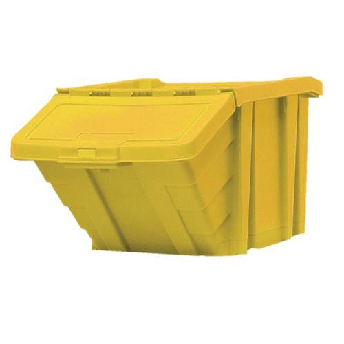 Recycle Storage Bin and Lid Yellow 400x635x345mm