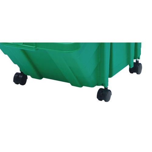 Castor Set for Large Recycling Storage Bins 0.16kg 40x50x30mm Black