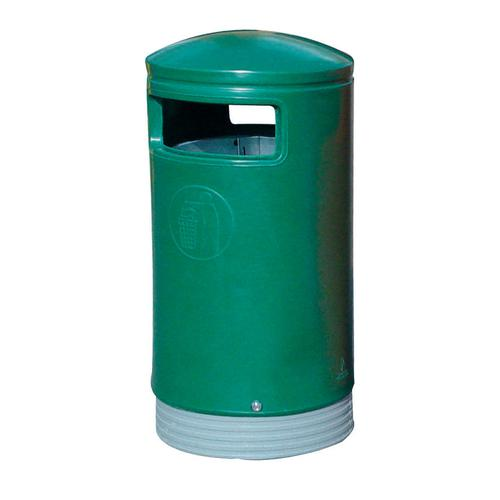 Outdoor Hooded Top Bin 110 Litres Easy Clean Green