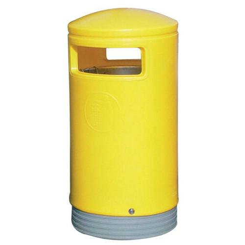 Outdoor Hooded Top Bin 110 Litres Easy Clean Yellow