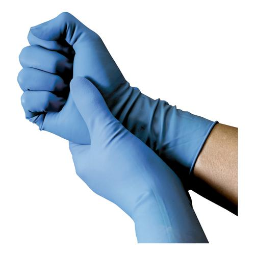 Nitrile Powdered Gloves Medium Blue [50 Pairs]