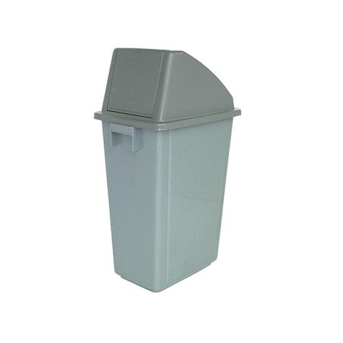 Recycling Bin 60 Litre Capacity with Grey Standard Top 330x480x1190mm Grey