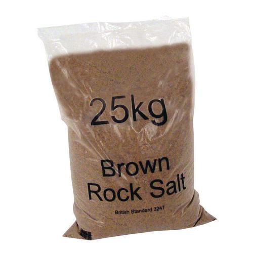 Rock Salt De-icing 25kg Brown [Packed 40]