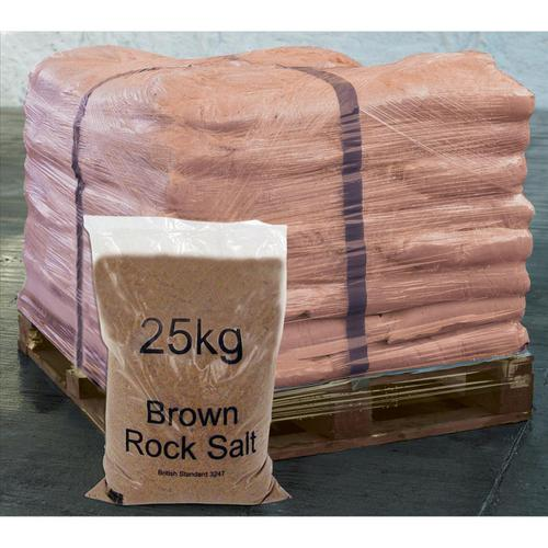 Rock Salt De-icing 25kg Brown [Packed 40]