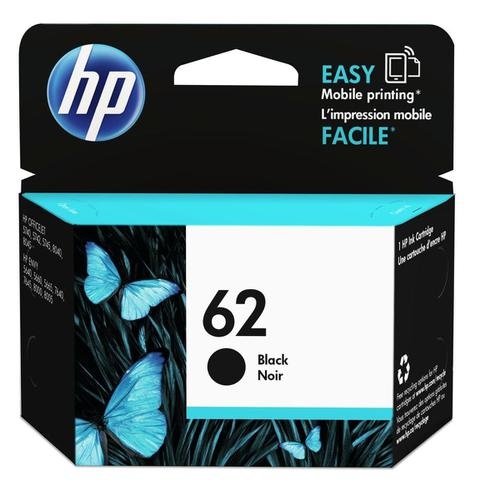 Hewlett Packard [HP] No.62 Inkjet Cartridge 4ml Page Life 200pp Black Ref C2P04AE