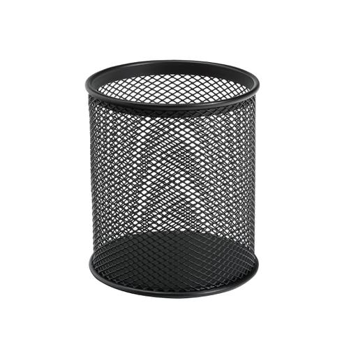5 Star Office Pen Pot Wire Mesh DiaxH: 80x95mm Black