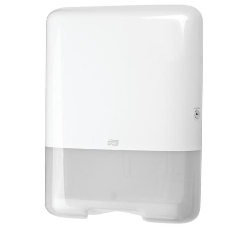 Tork Single Fold C Fold Hand Towel Dispenser W333xD136xH439mm Plastic White Ref 553000