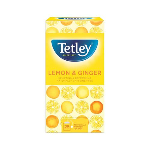Tetley Individually Enveloped Tea Bags Lemon & Ginger Ref 1579a [Pack 25]