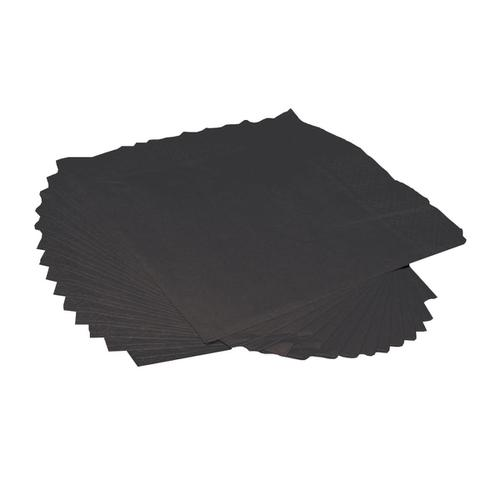 Napkin 2-Ply 250x250mm Black [Pack 250]