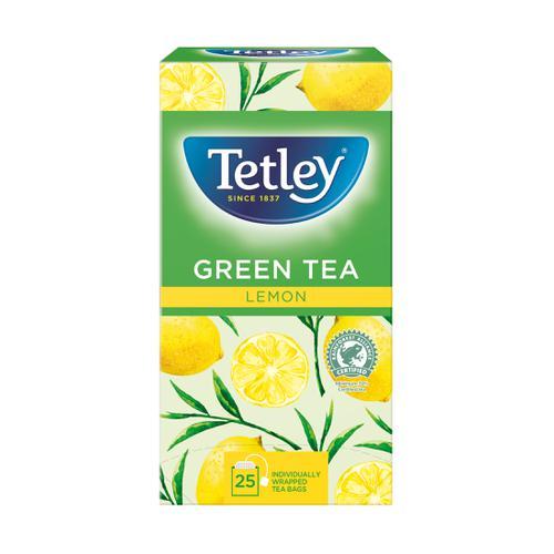 Tetley Individually Enveloped Tea Bags Green Tea & Lemon Ref 1296 [Pack 25]