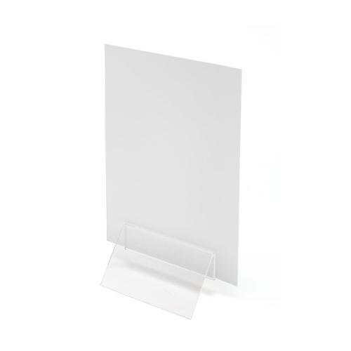 Crystal Menu Holder Clip 50mm Wide Clear