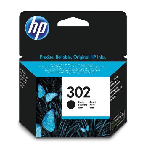Hewlett Packard [HP] No.302 Inkjet Cartridge Page Life 190pp 3.5ml Black Ref F6U66AE